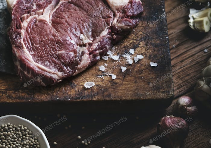 Tomahawk steak food photography recipe idea