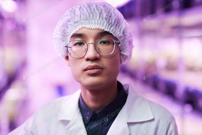 Ученый на работе