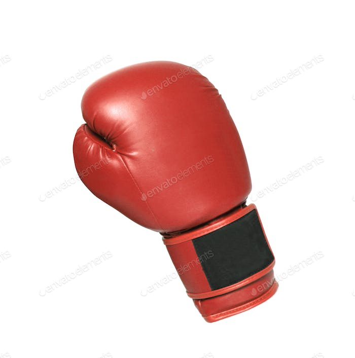 Boxing glove on white background