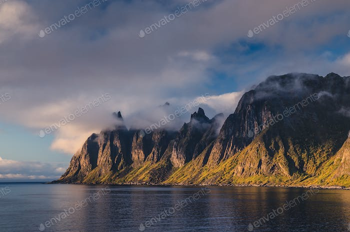 Okshornan, Bull Horns range in Senja, Norway