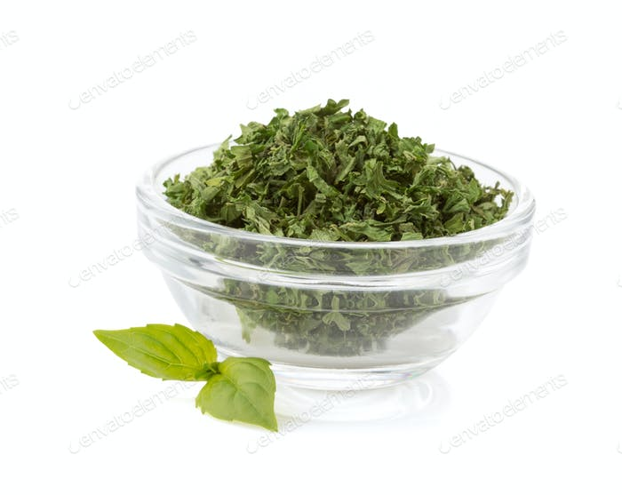 dried green spices in bowl