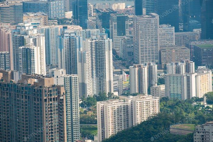 layers of  Skyscraper in Hong Kong