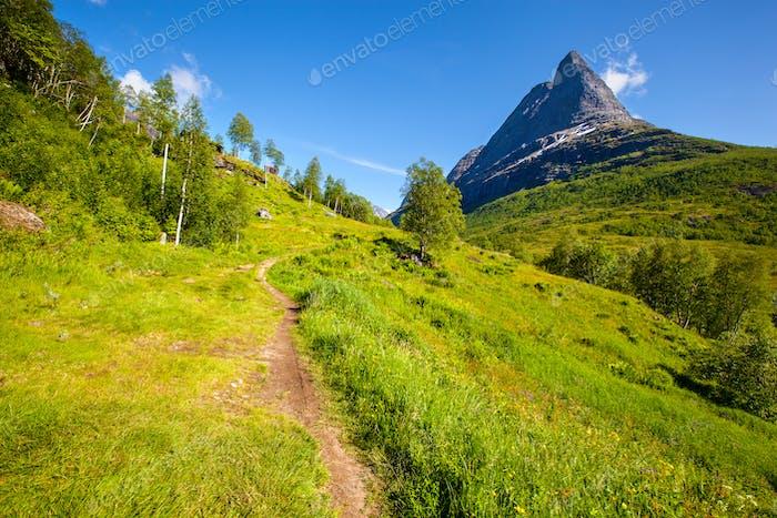 Innerdalen valley beautiful hiking destination, Norway