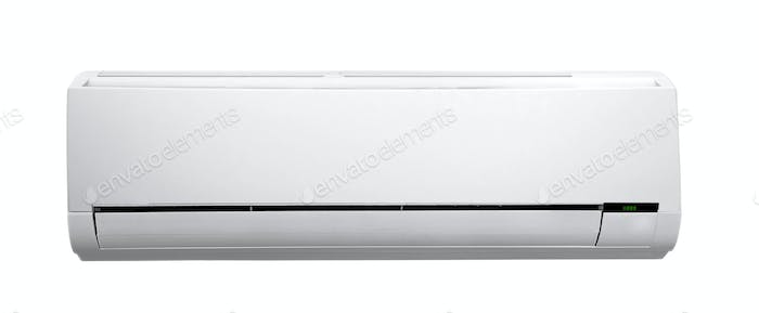 white air conditioner isolated on white