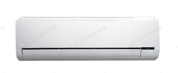 acondicionador de aire blanco aislado en blanco