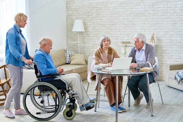 Senior People in Modern Retirement Home