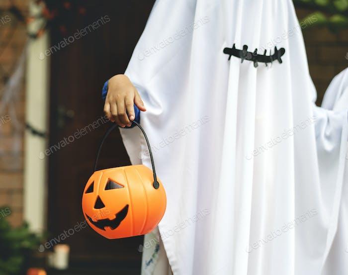 Ghost kostüm für Halloween-Party