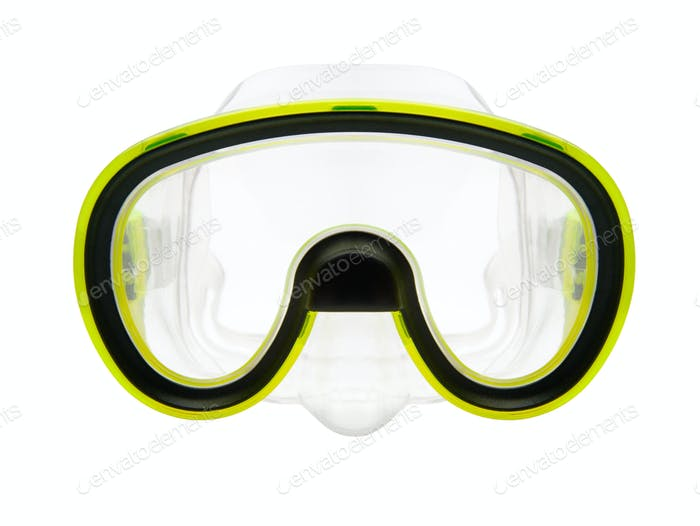 Isolated snorkeling or diving mask