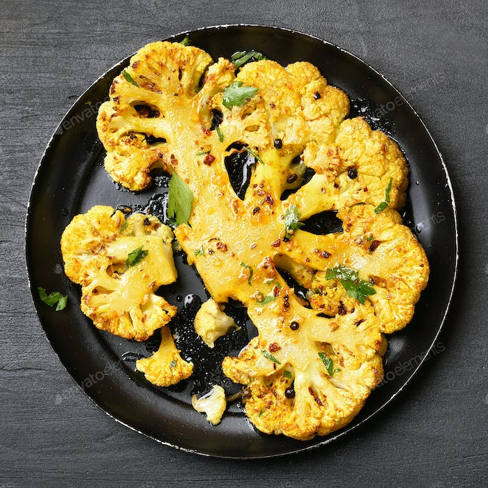 Fried cauliflower steak