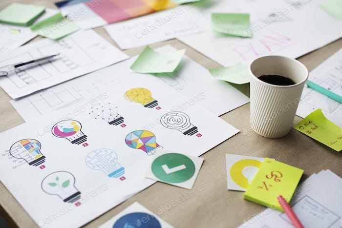 Multi design of light bulb for creative innovation invention ide