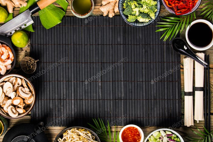 Asian cuisine ingredients