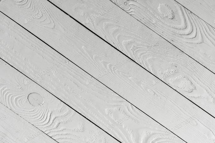 Close-up view of white textured wooden background from wooden planks