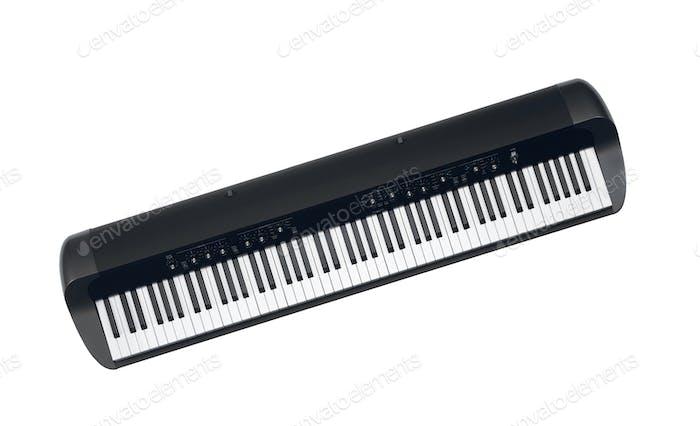 Synthesizer isolated on white background
