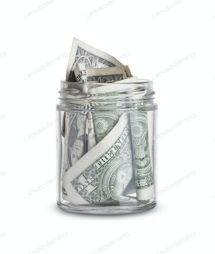Geld in einem Glas