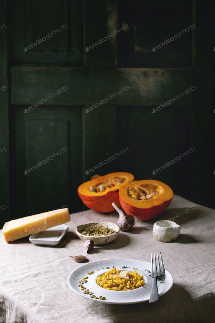 Traditional pumpkin risotto