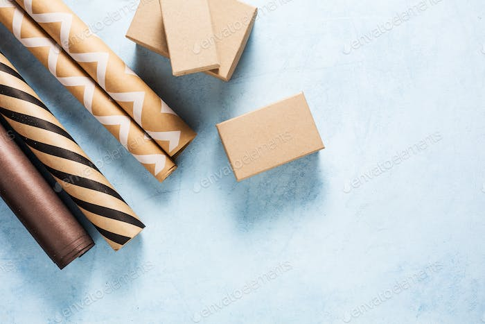 Gift boxes and wrapping paper