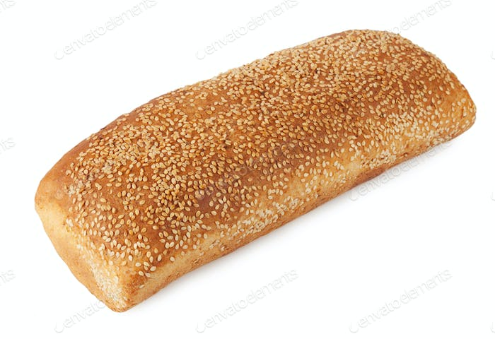 A loaf of bread with sesame seeds