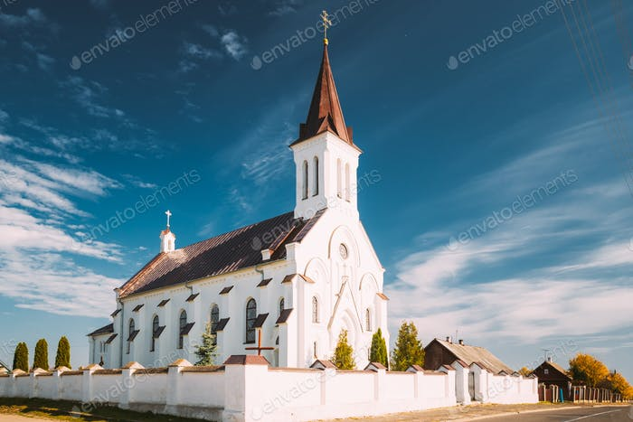 Kosava, Belarus. Church of the Holy Trinity. Historic Landmark And Heritage