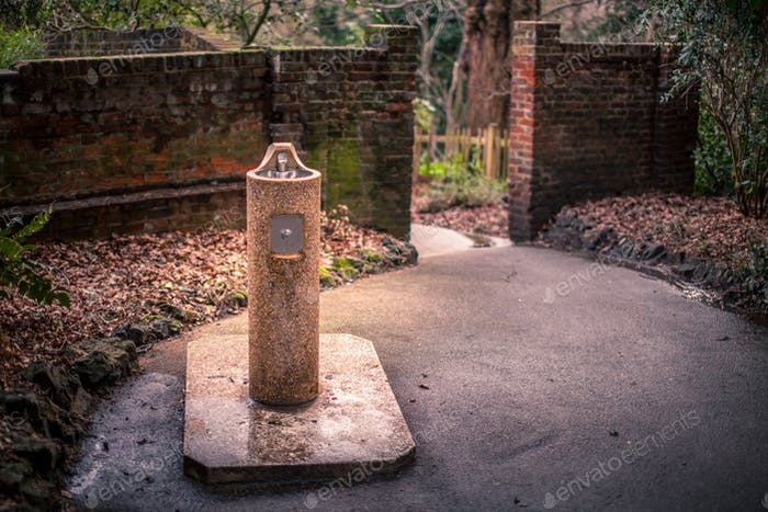 Drinking fountain in a park