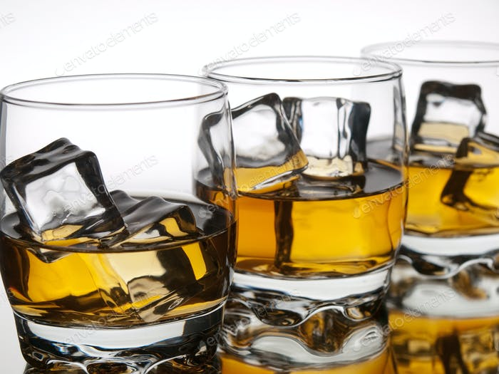Three whiskeys