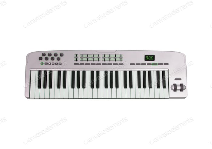 Music keyboard isolated on white