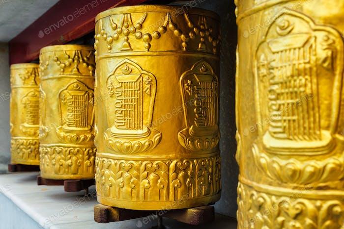 Gebetsräder im Kloster Tabo
