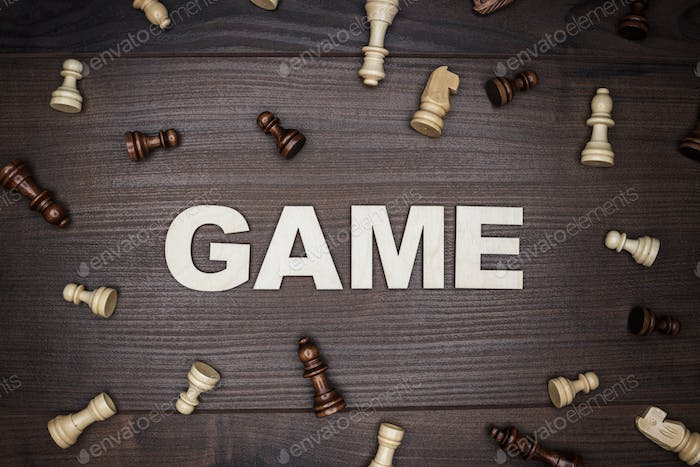 Game Concept On Wooden Background