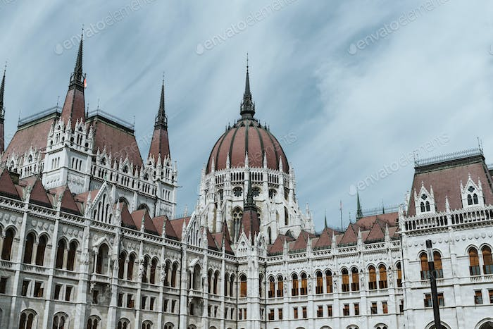 close up on Hungarian Parliament