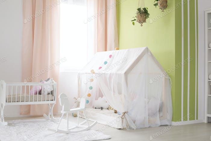 Tent in baby room