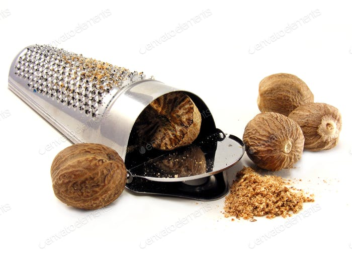 Nutmeg Grater and Nutmeg