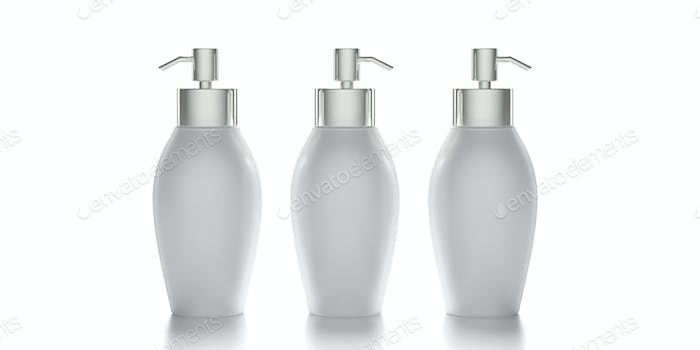 Blank cosmetic pump bottle isolated on white background. 3d illustration