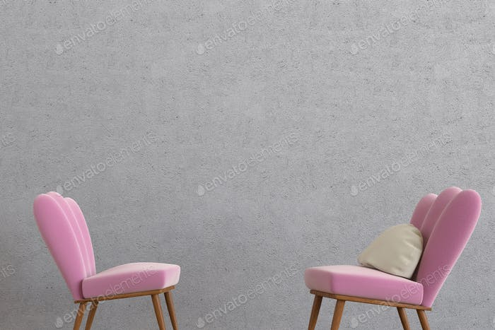 Minimalistic lounge room 3d rendering