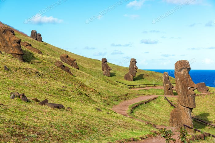 Easter Island Moai at Rano Raraku