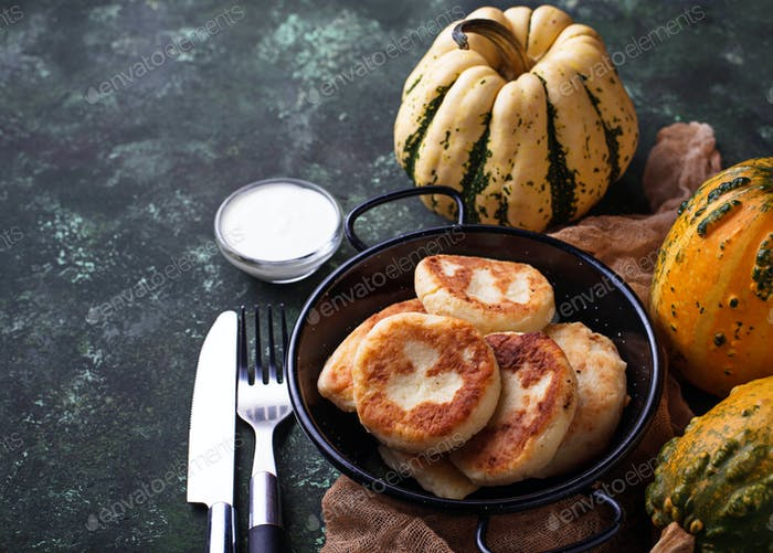 Delicious homemade pumpkins pancakes