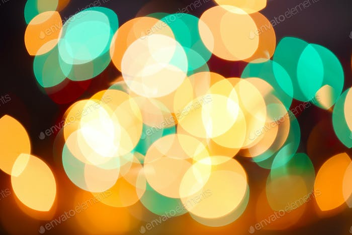 multicolored holiday bokeh
