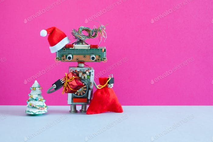 Roboter Weihnachtsmann