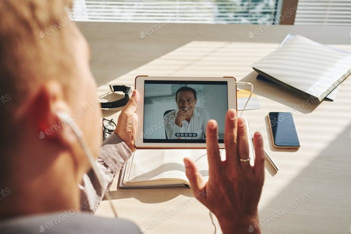 Video conference on tablet