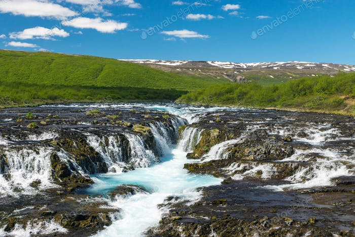 The beautiful Bruarfoss in Iceland