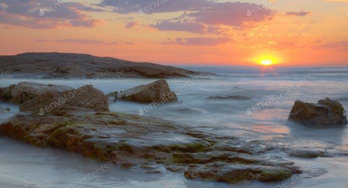 Sunset  at Birubi Beach, Australia