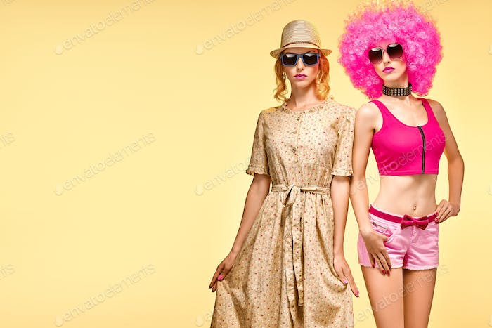 Fashion Funny girl, Stylish Summer Outfit, Dance