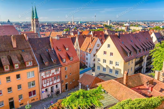 Nuremberg, Germany Old Town Skylin