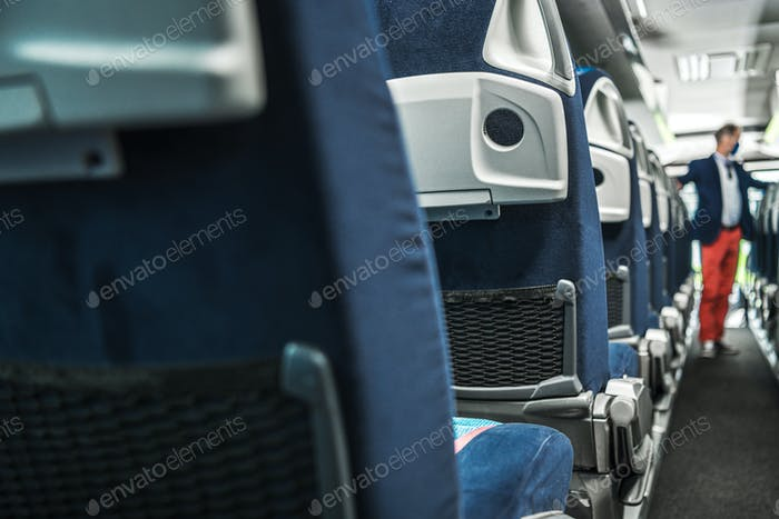 Image Of Bus Interior Without Passengers.