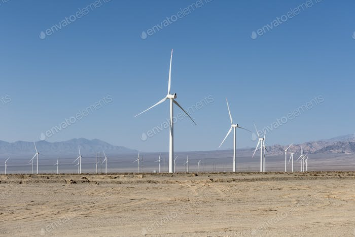 wind farms in the desert