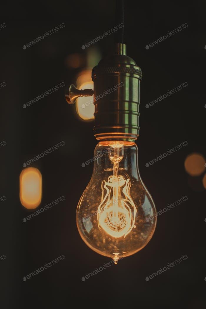 Ретро лампы с размытым фоном