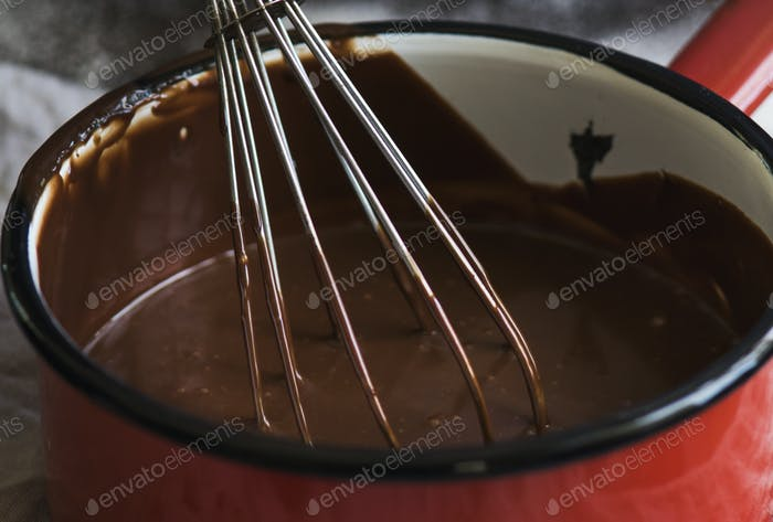 Chocolate ganache photography recipe idea