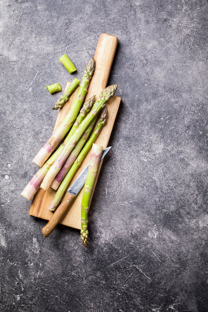Fresh green asparagus. Healthy eating concept. Food for vegetarians.