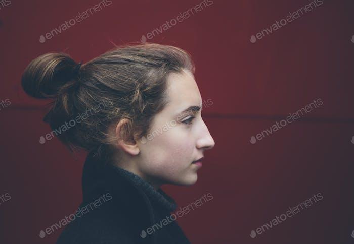 Portrait of thirteen year old teenage girl