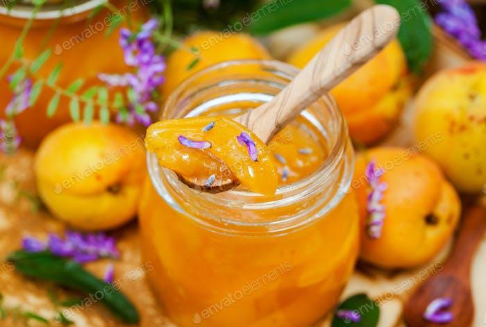 Delicious homemade apricot jam