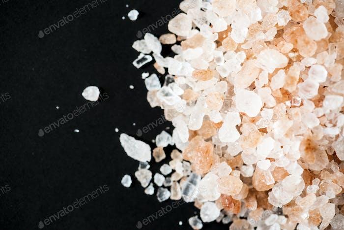 Closeup of himalayan salt