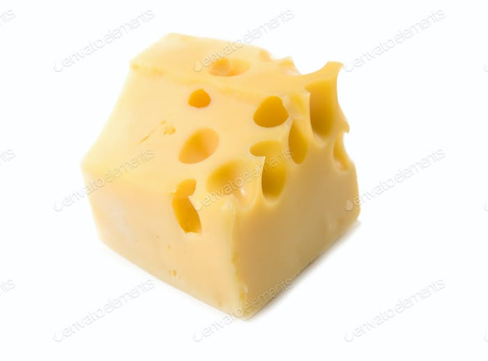 cheese is isolated